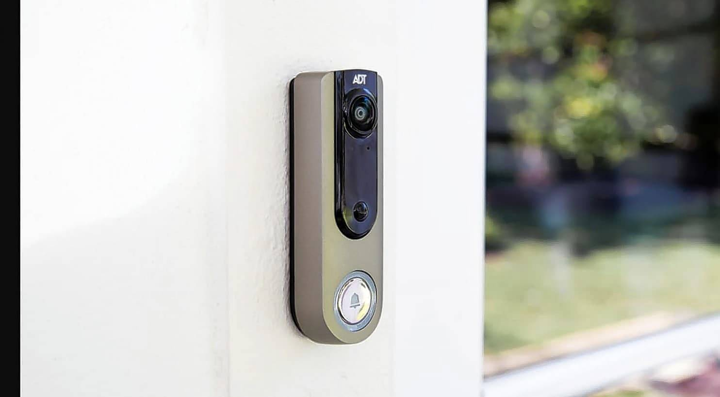 The ADT Video Doorbell can be controlled by an app.