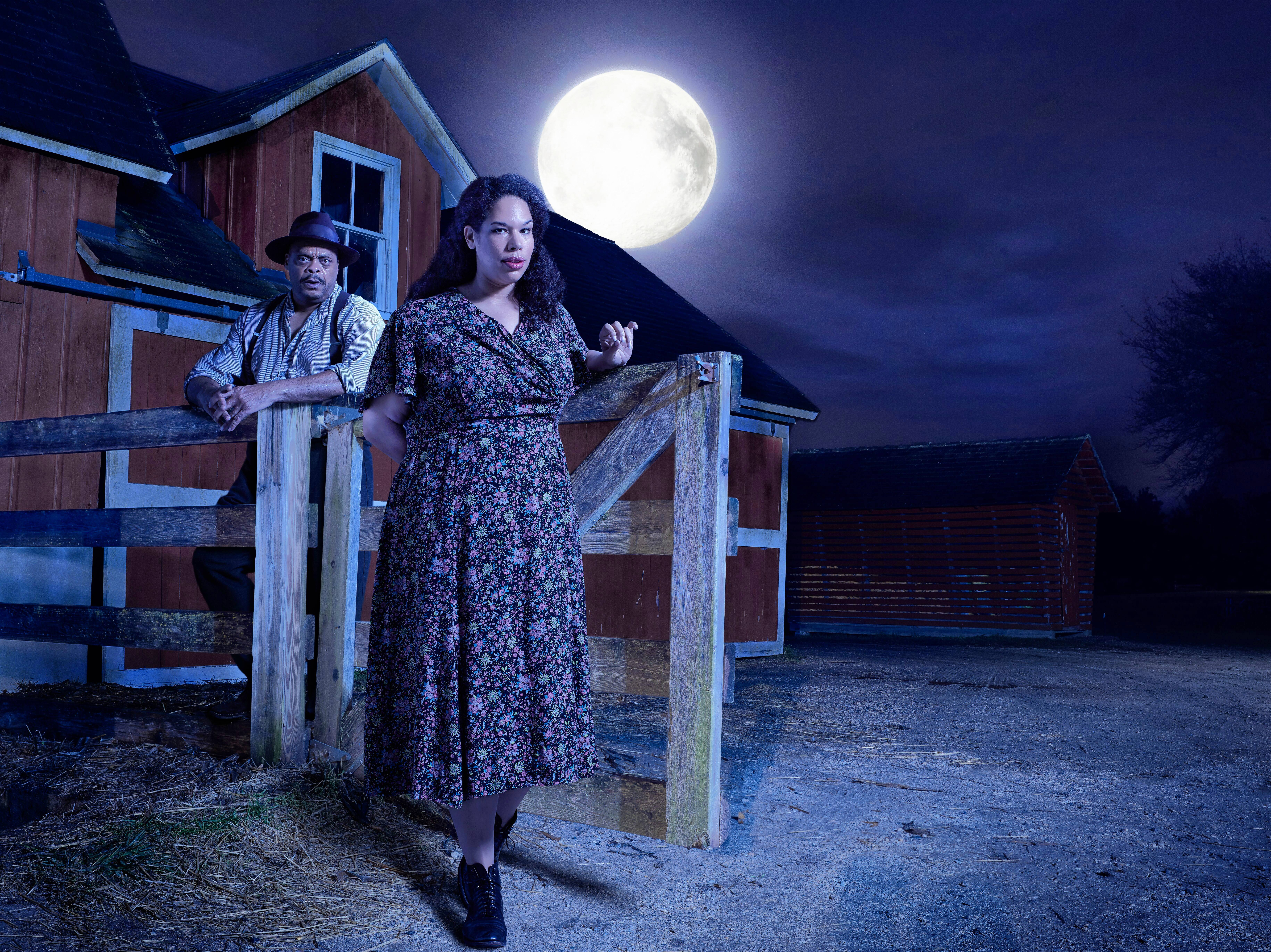 "A.C. Smith and Bethany Thomas co-star in Writers Theatre's revival of Eugene O'Neill's ""A Moon for the Misbegotten."""