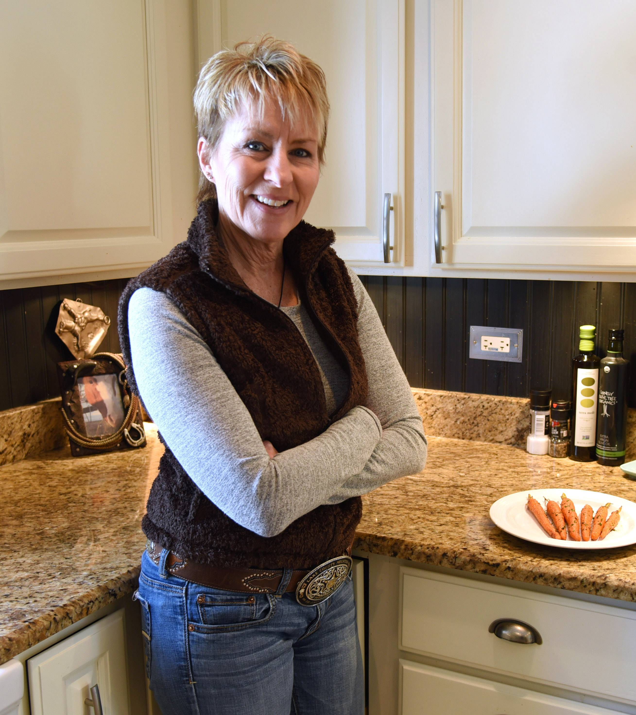 Paul Valade/pvalade@dailyherald.comCook of the Week feature on North Barrington's Pam Zeidman who made Honey Thyme Roasted Carrots.
