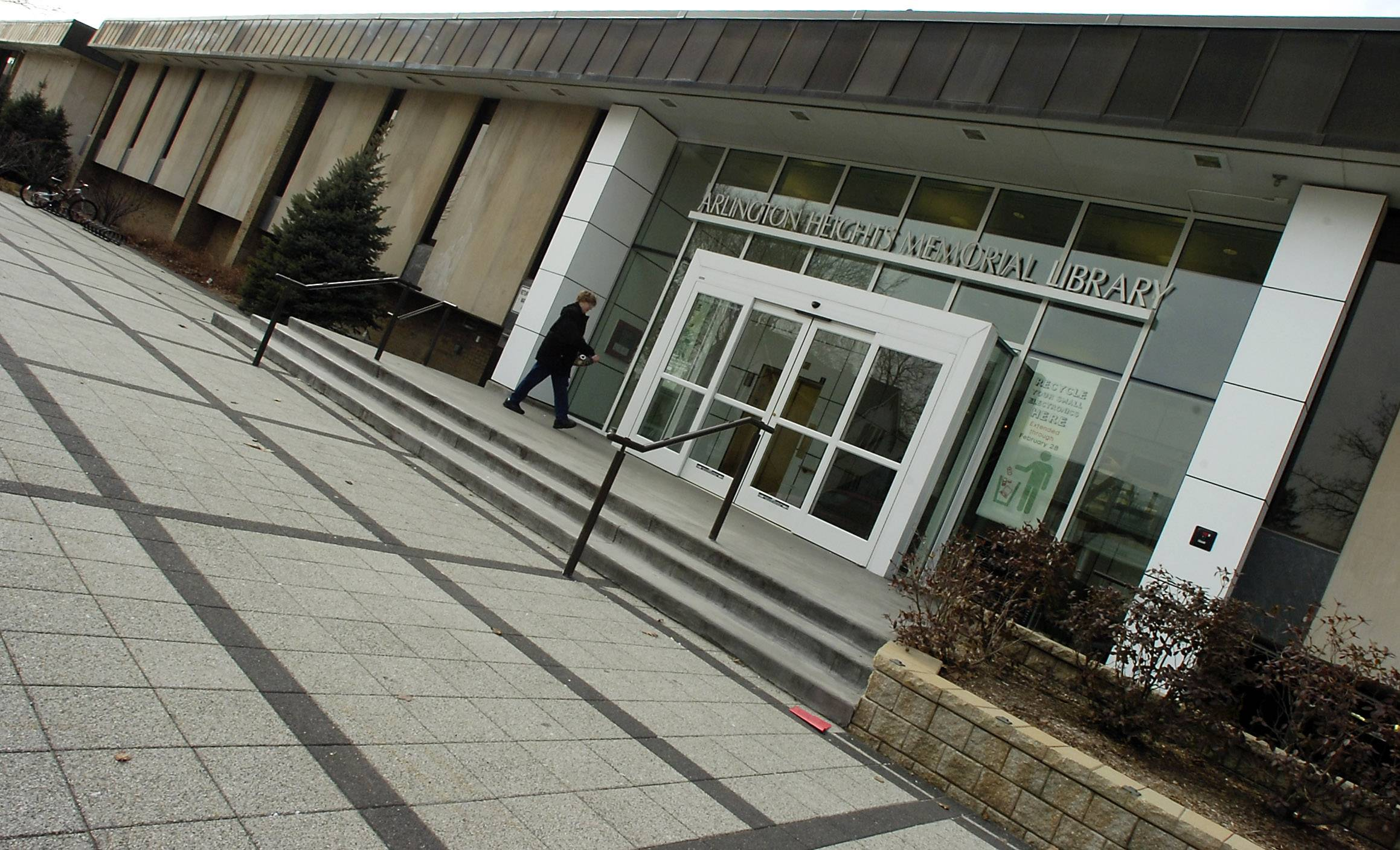 The Arlington Heights Memorial Library plans to replace the 21-year-old roof on a portion of its building. The library budgeted $425,000 for the project.