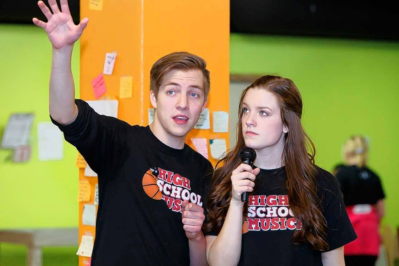 "Christian Youth Theater Kane County will present Disney's ""High School Musical"" this weekend at Burlington Central High School. Elgin residents Jake Mickel, 17, and Ariel Gray, 17, rehearse their roles as Troy Bolton and Gabriella Montez."