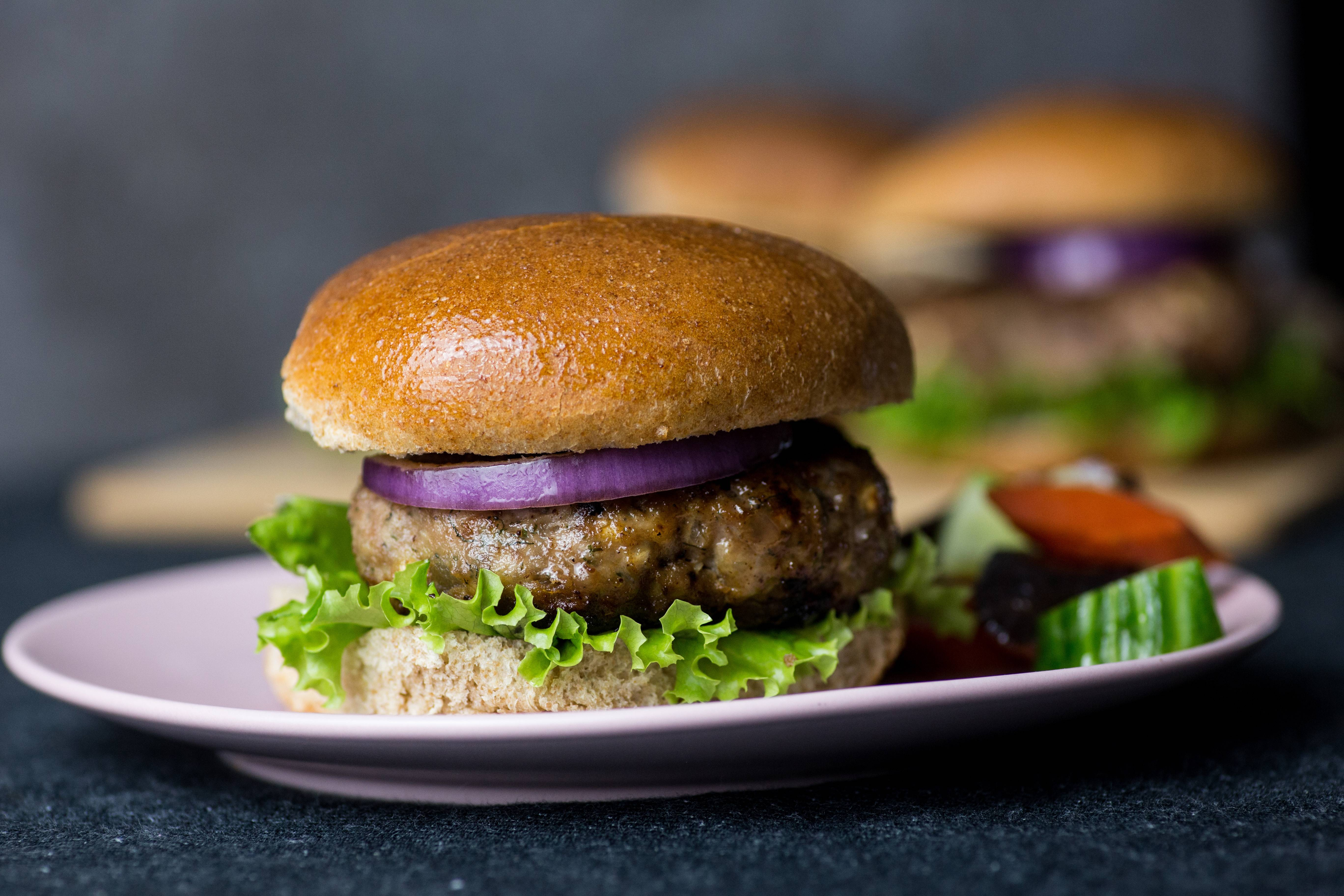 Turkey Burgers With Feta and Dill.