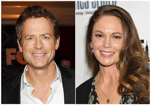 "This combination photo shows Greg Kinnear, left, and Diane Lane, who will star as siblings in the final season of ""House of Cards,"" on Netflix."