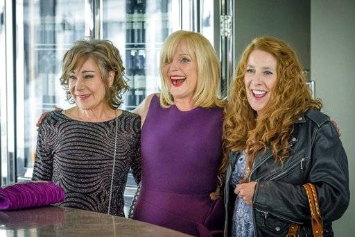 "This image released by Acorn TV shows Zoe Wanamaker, from left, Miranda Richardson and Phyllis Logan in a scene from the series, ""Girlfriends."" The series premieres in the U.S. on Monday, Jan. 29, on Acorn TV. (Acorn TV via AP)"