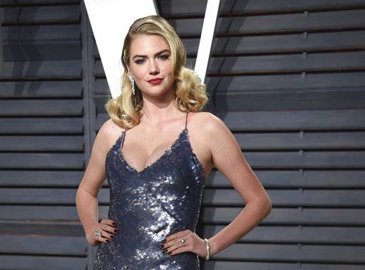 FILE- In this Feb. 26, 2017, file photo, Kate Upton arrives at the Vanity Fair Oscar Party in Beverly Hills, Calif. Shares of Guess are falling after Upton posted about company's co-founder Paul Marciano on social media on Wednesday, Feb. 1, 2018. Guess couldn't be immediately reached for comment. (Photo by Evan Agostini/Invision/AP, File)