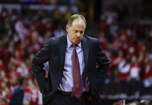 Wisconsin coach Greg Gard paces the sideline during the second half of Wisconsin's 60-52 loss to Northwestern in an NCAA college basketball game Thursday, Feb. 1, 2018, in Madison, Wis.