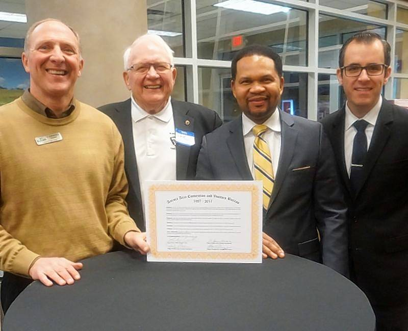 President Sean Michels of the village of Sugar Grove; President Dale Berman of the village of North Aurora; Mayor Richard C. Irvin of the city of Aurora; President Matt Brolley of the village of Montgomery.