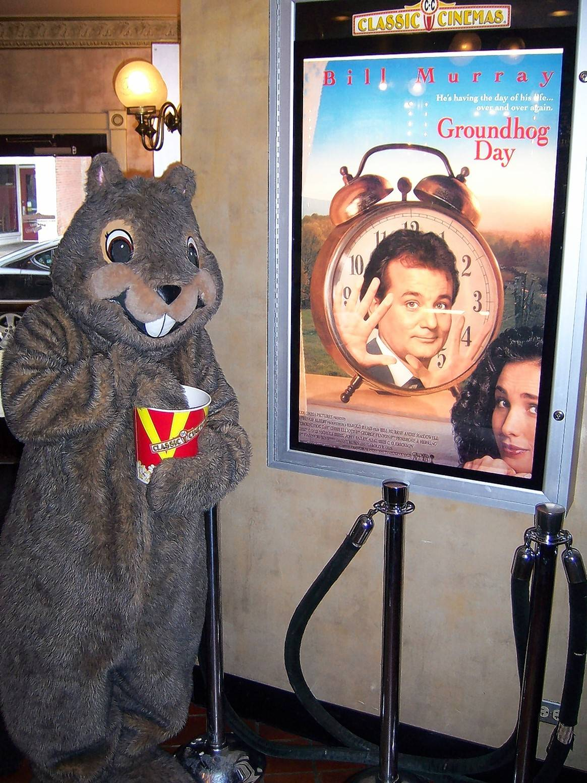 "Appearances by Woodstock Willie and free screenings of the film ""Groundhog Day"" are part of Groundhog Days in Woodstock."
