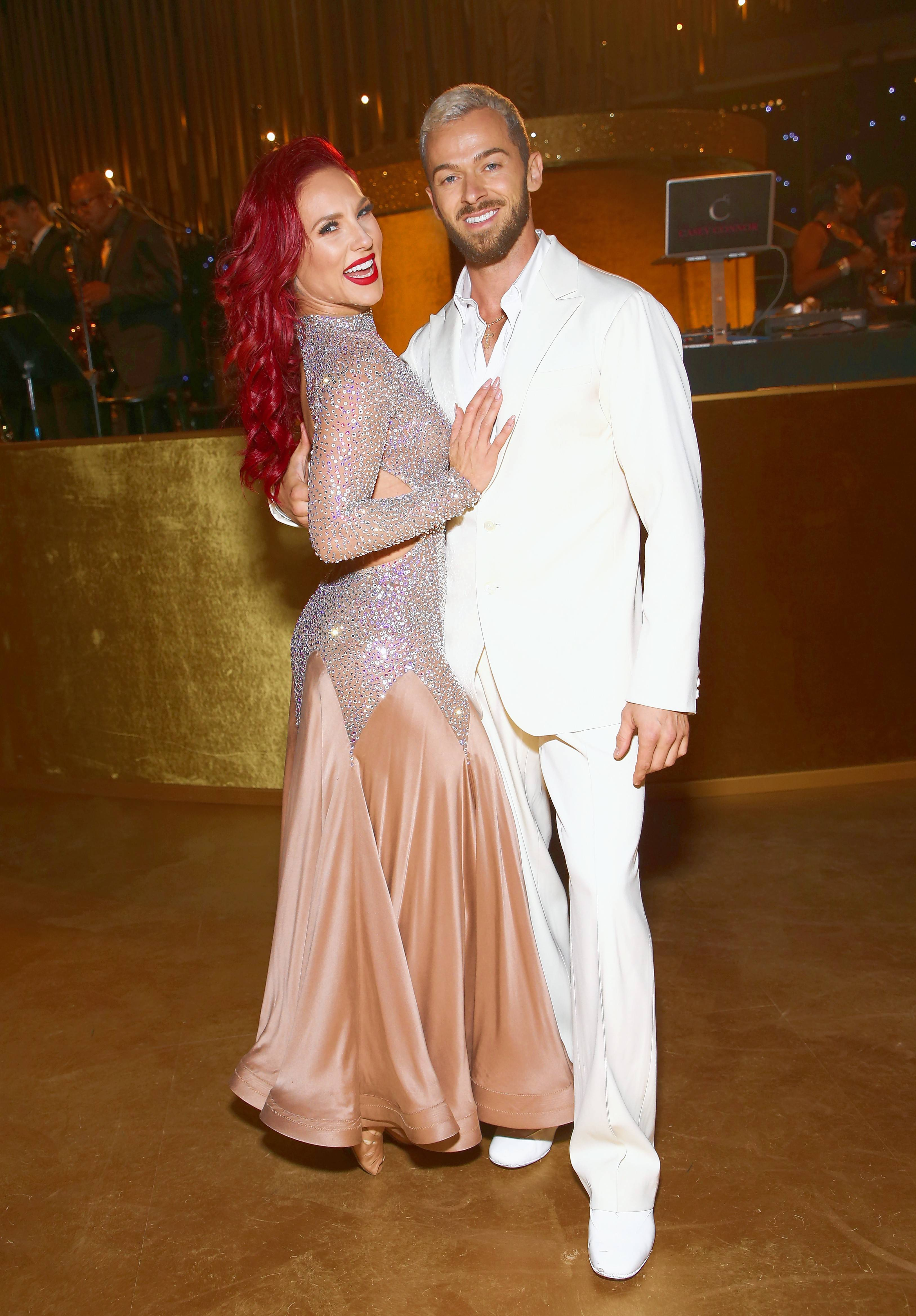 "Sharna Burgess, left, and Artem Chigvintsev are featured in ""Dancing with the Stars: Live! -- Light Up the Night,"" which plays the Rosemont Theatre on Saturday, Feb. 3."