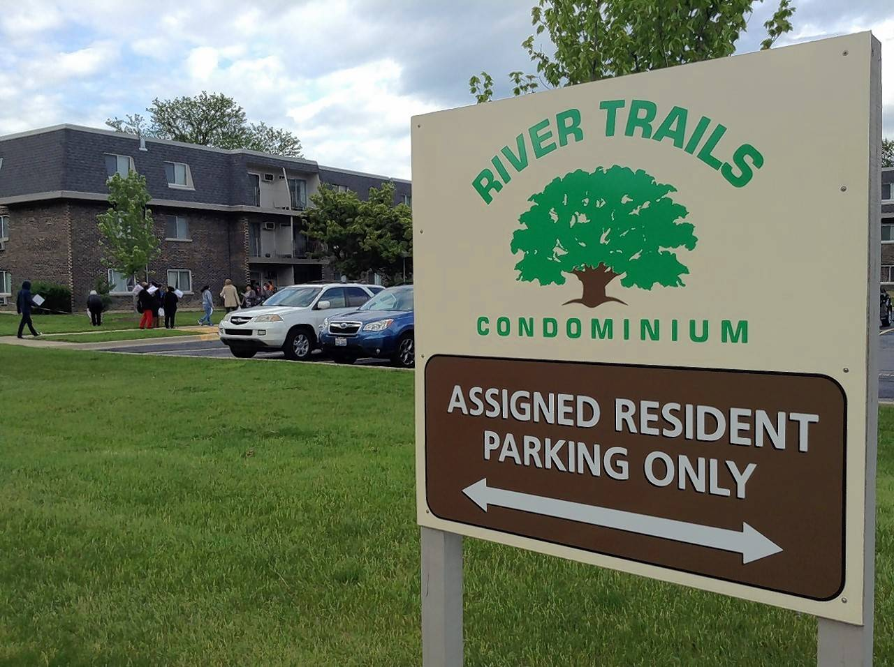 The River Trails Condominium Association is suing some residents, claiming they defamed board members during an ongoing dispute over whether to convert the condos into apartments.