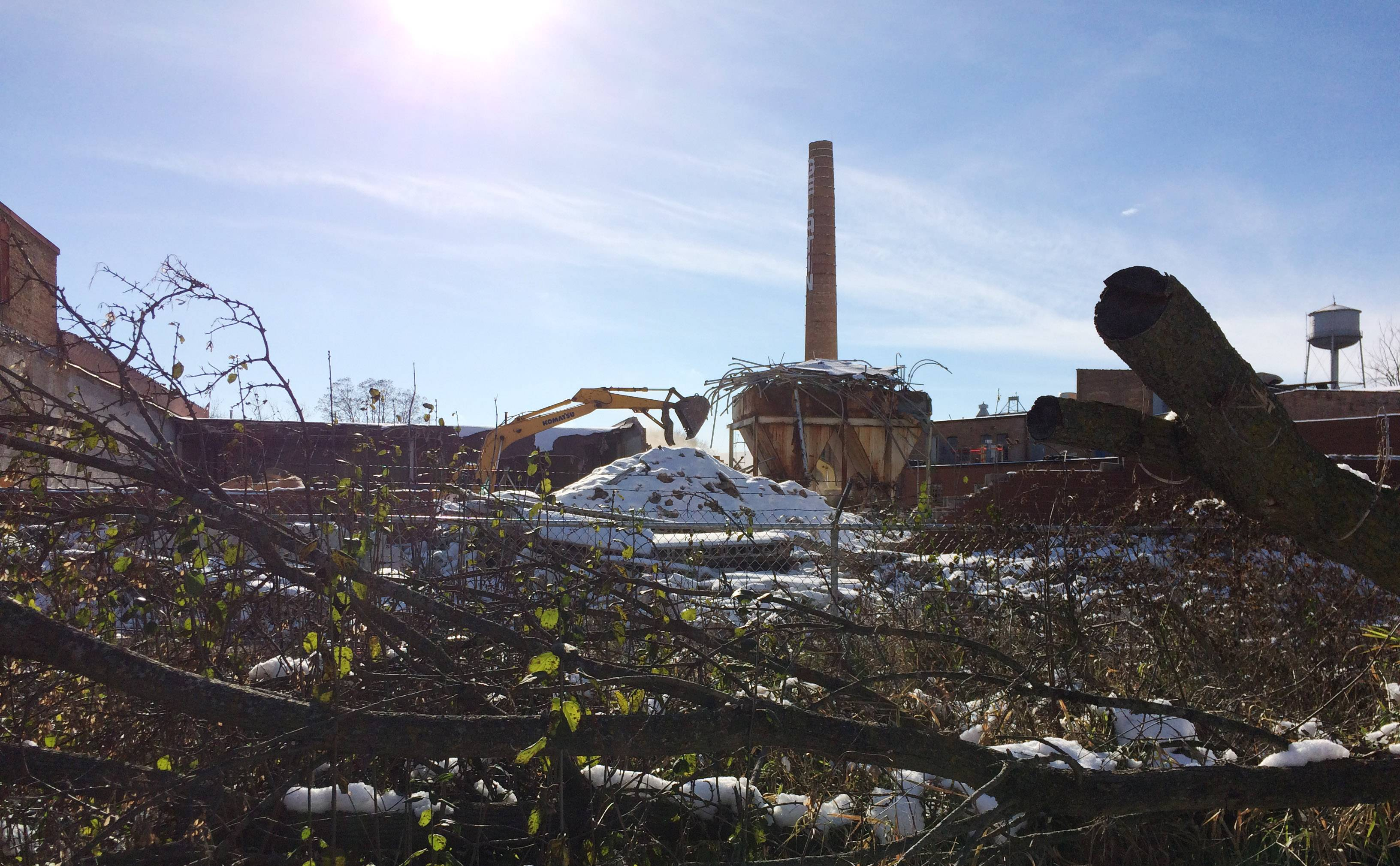 The village of Grayslake unveiled a proposal Friday to convert the space around the iconic Grayslake Gelatin Co. smokestack into a new park.