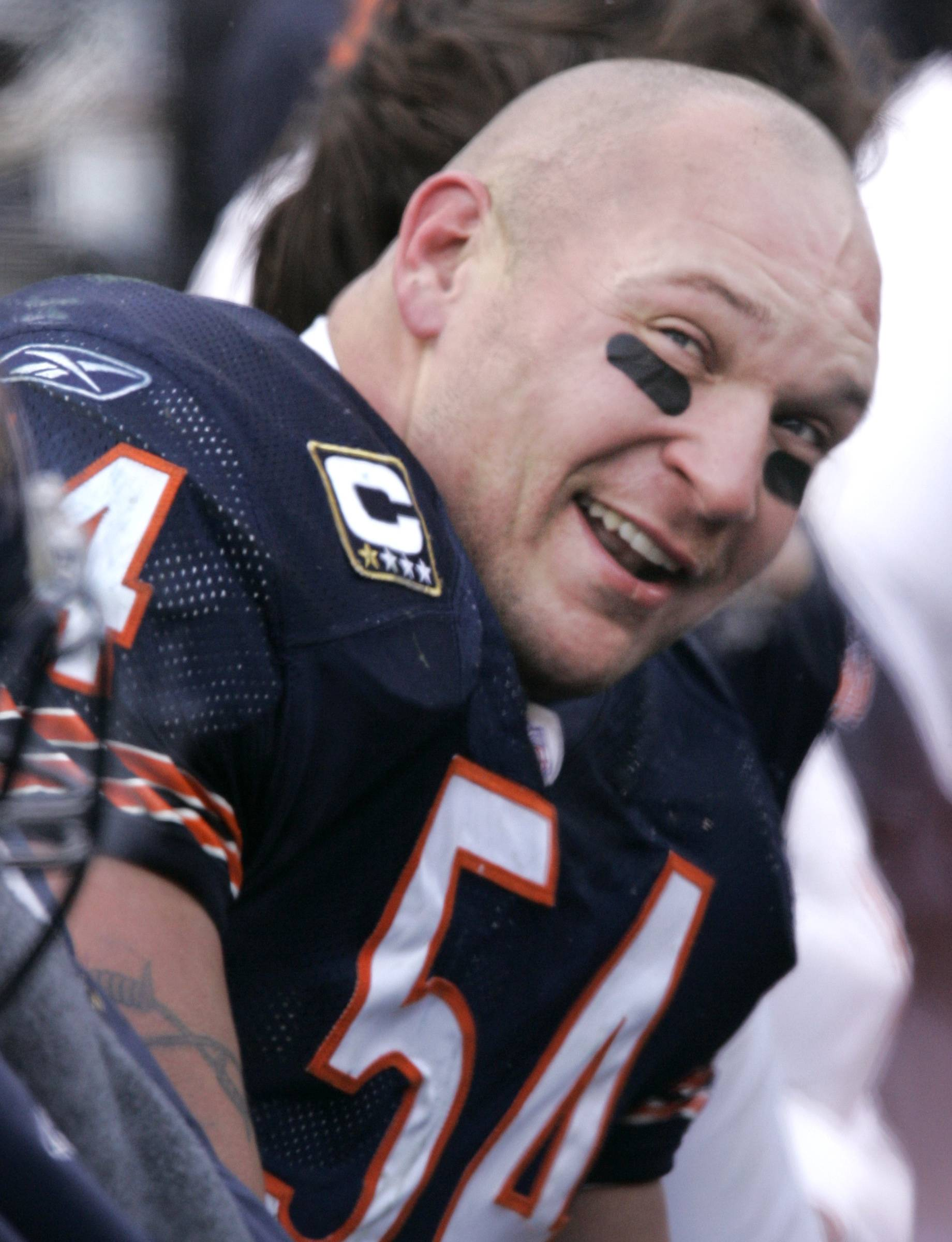 Former Chicago Bears linebacker Brian Urlacher was named to 8 Pro Bowls in his NFL career and earned AP Defensive Rookie of the Year in 2000, and was AP Defensive Player of the Year in 2005.