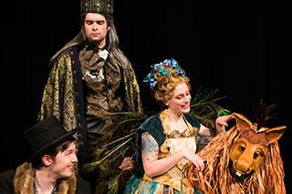 "CLC Theatre will present ""A Midsummer Night's Dream"" Feb. 23 through March 3. Actors pictured: Titania (Rachael Lester, Libertyville), Oberon (Michael Farca, Lake Villa),  Bottom (Jeff Brain, Antioch), Puck (Ben Compton, Winthrop Harbor)."