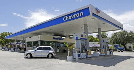 This Tuesday, May 2, 2017, photo shows a Chevron gas station in Miami. Chevron Corp. reports earnings, Friday, Feb. 2, 2018.