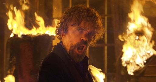 This photo provided by PepsiCo shows Peter Dinklage in a scene from the company's Doritos Blaze Super Bowl spot. For the 2018 Super Bowl, marketers are paying more than $5 million per 30-second spot to capture the attention of more than 110 million viewers. (PepsiCo via AP)