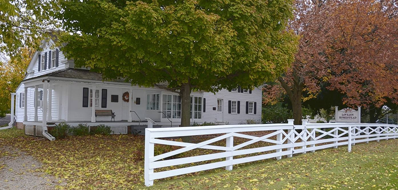 The Owen Lovejoy Homestead in Princeton, where fugitive slaves hid on their way to freedom, is open for tours.