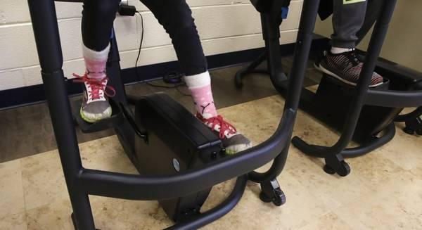 Students Pedal At Bike Desks In Fourth Grade Health Class Oak Grove School Green