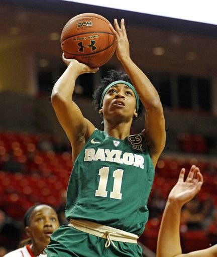 Baylor's Alexis Morris (11) shoots the ball during the first half of an NCAA college basketball game against Texas Tech, Saturday, Feb. 3, 2018, in Lubbock, Texas.