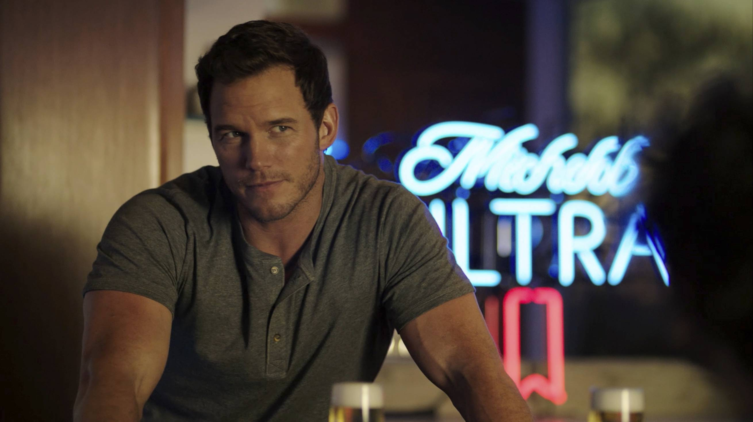 Chris Pratt stars in a Michelob Ultra commercial during the Super Bowl.