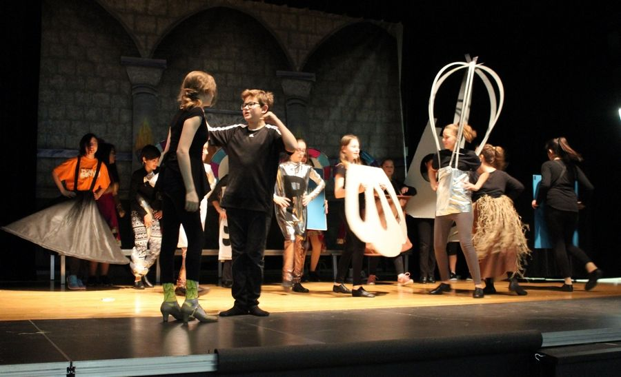 "After rehearsing for months, students at Carl Sandburg Middle School in Mundelein will perform ""Beauty and the Beast Jr."" this weekend, the first musical in the school's history."