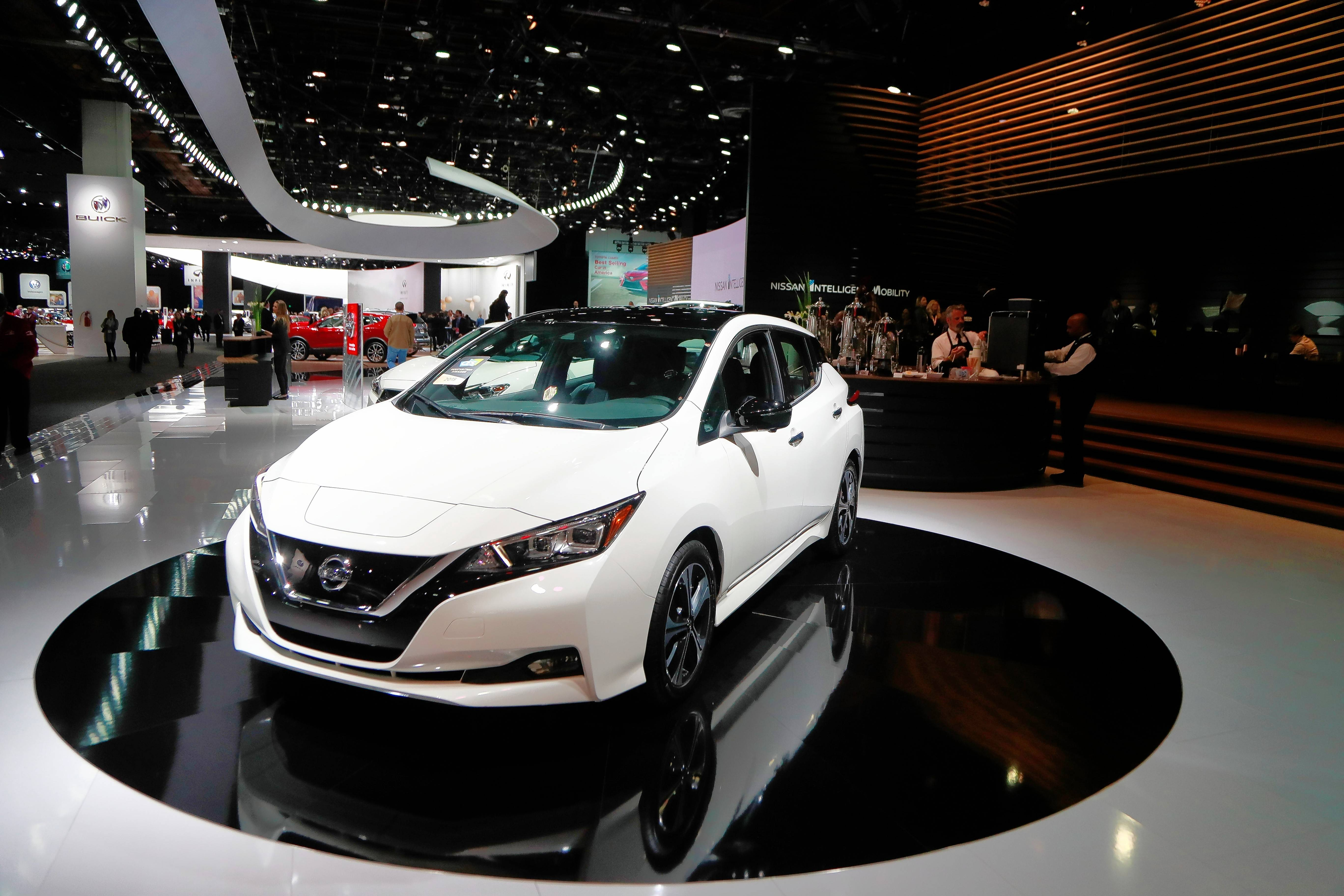 The 2018 Nissan Leaf is among a number of more affordable electric cars with an increased range. It's coming to the Chicago Auto Show.