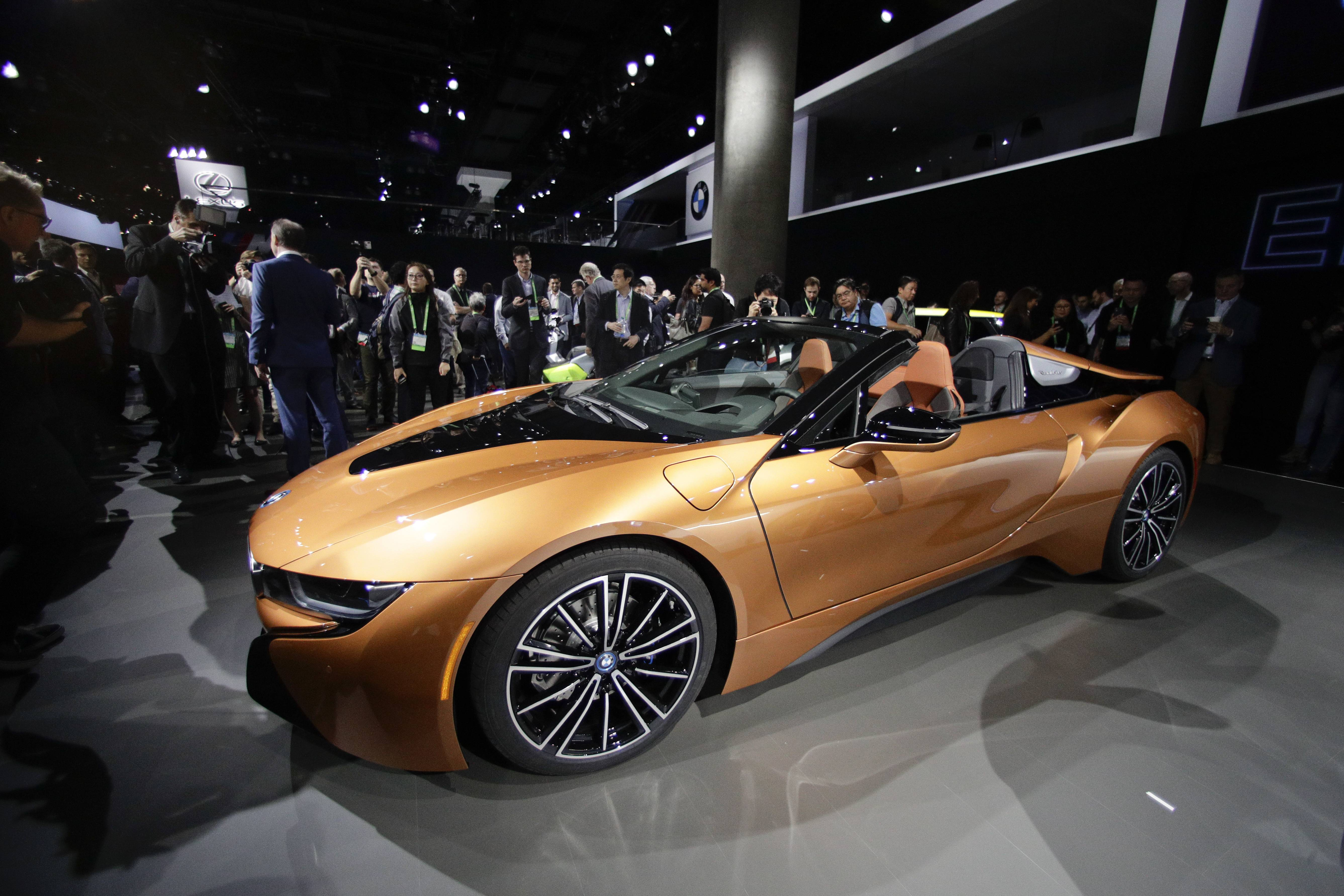 The BMW i8 Roadster turned heads at the Los Angeles Auto Show, and now it's coming to Chicago's, beginning Saturday.