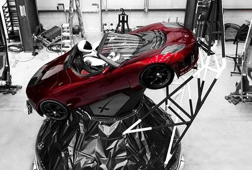 "A mannequin ""Starman� sits at the wheel of a Tesla Roadster in this photo posted on the Instagram account of Elon Musk, head of auto company Tesla and founder of the private space company SpaceX. The car will be on board when SpaceX launches its new rocket, the Falcon Heavy, from Kennedy Space Center at Cape Canaveral, Fla., scheduled for Tuesday, Feb. 6, 2018. (Courtesy of Elon Musk/Instagram via AP)"