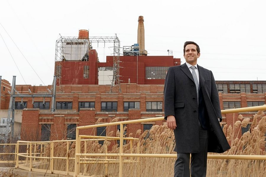"Roberto Perez, managing partner, president, Hilco Real Estate Redevelopment Partners at the Crawford Power Generating Station site that Hilco plans to remediate and transform into an economic engine in the Little Village neighborhood in Chicago. The 70-acre site, shuttered since 2012, holds great promise as a ""last-mile"" distribution and logistics facility."