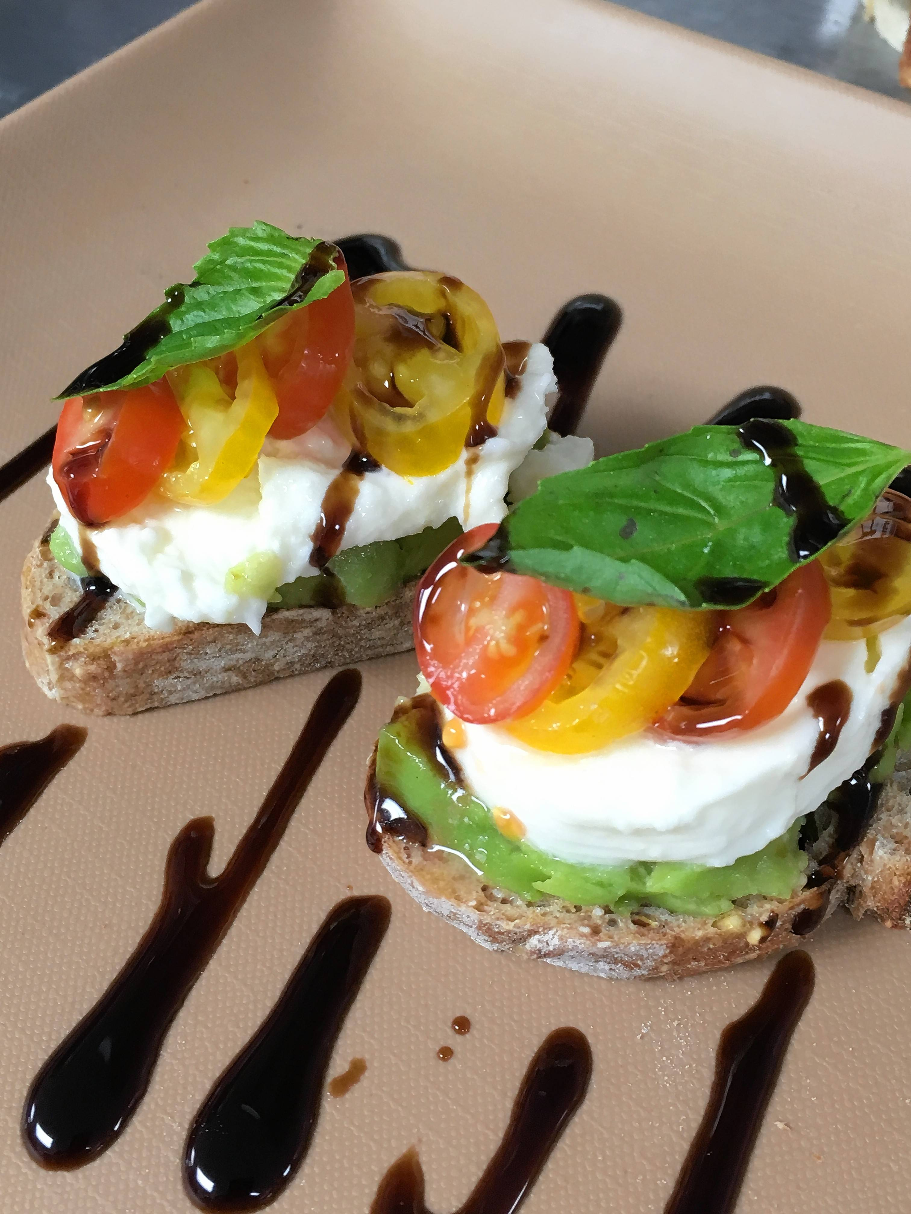 Avocado caprese bruschetta is one of the small plates being served during Big Bad Beer Eve Wednesday, Feb. 14, at Beerhead Bar & Eatery in Vernon Hills and The Beer Market in Bolingbrook.
