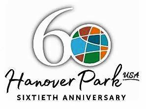 Hanover Park's 60th anniversary logo, which incorporates the village's new general-purpose logo.