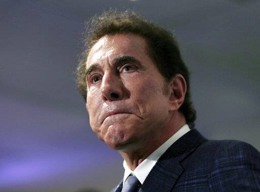"FILE - This March 15, 2016, file photo, shows casino mogul Steve Wynn at a news conference in Medford, Mass. The University of Pennsylvania has announced plans to distance itself from casino mogul Wynn and comedian Bill Cosby in the wake of sexual misconduct allegations against both men.  The college on Thursday, Feb. 1, 2018, said it will revoke Wynn's honorary degree and remove his name from both an outdoor plaza and a scholarship fund. The school will also rescind Cosby's honorary degree. The school says it has been a century since it took away an honorary degree but that ""credible� allegations against the men warranted the action."