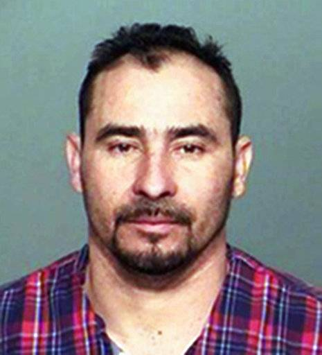 This photo provided by the Indiana State Police shows, Manuel Orrego-Savala, a citizen of Guatemala, who is be held in a suspected drunken driving crash that killed Indianapolis Colts linebacker Edwin Jackson on Sunday, Feb. 4, 2018, along Interstate 70 in Indianapolis. Police say that Orrego-Savala, who gave a fake name following the Sunday accident, has twice been deported from the U.S. (Indiana State Police via AP)
