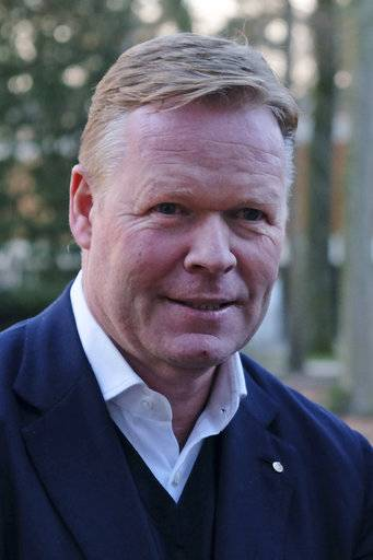 Former Everton and Southampton coach Ronald Koeman poses for a portrait in Zeist, Netherlands, Tuesday, Feb. 6, 2018, after a press conference where the Dutch Football Association announced it appointed Koeman to take charge of the struggling national team. Koeman signed a contract on Tuesday to coach the Netherlands up to and including the 2022 World Cup.