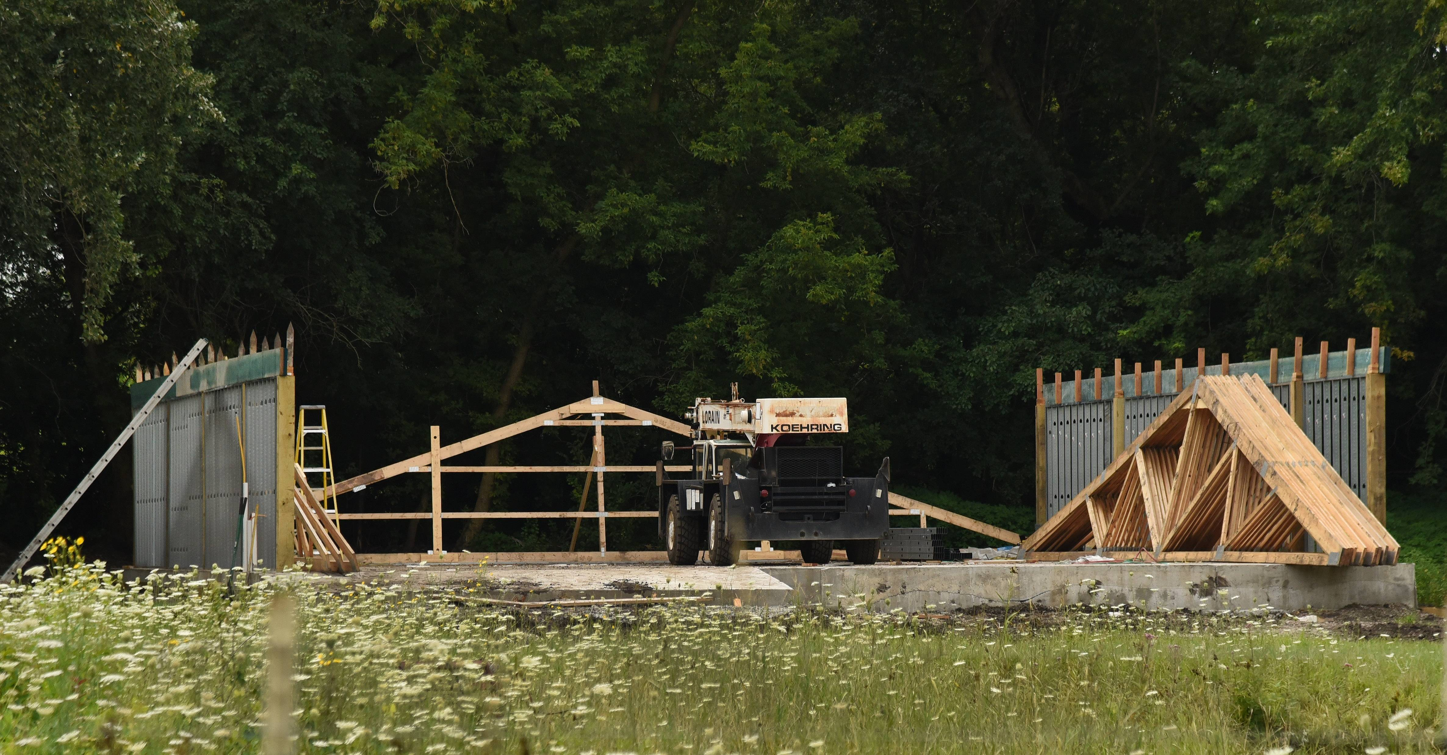 Barn construction for a proposed large-scale poultry farm for egg production began last summer on the southwest corner of Route 59 and Scott Road in North Barrington. Village President Albert Pino says the land recently was forcibly annexed into his community.
