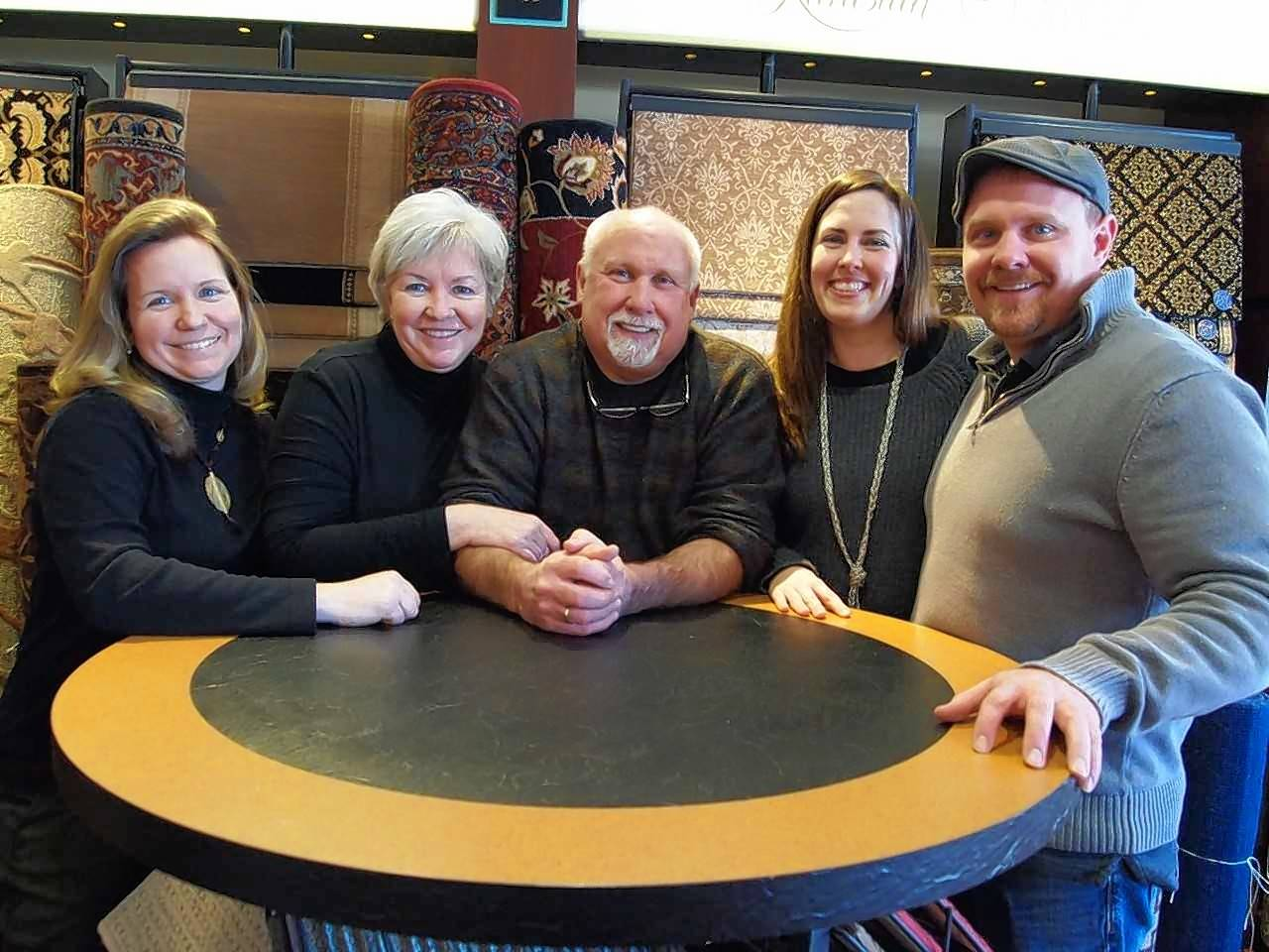 The Martin family, owners of Russell Martin Carpets and Rugs earned top award. Daughter Kate Moeller, Rae and Dave Martin, Rebecca and Sam Martin run the business.