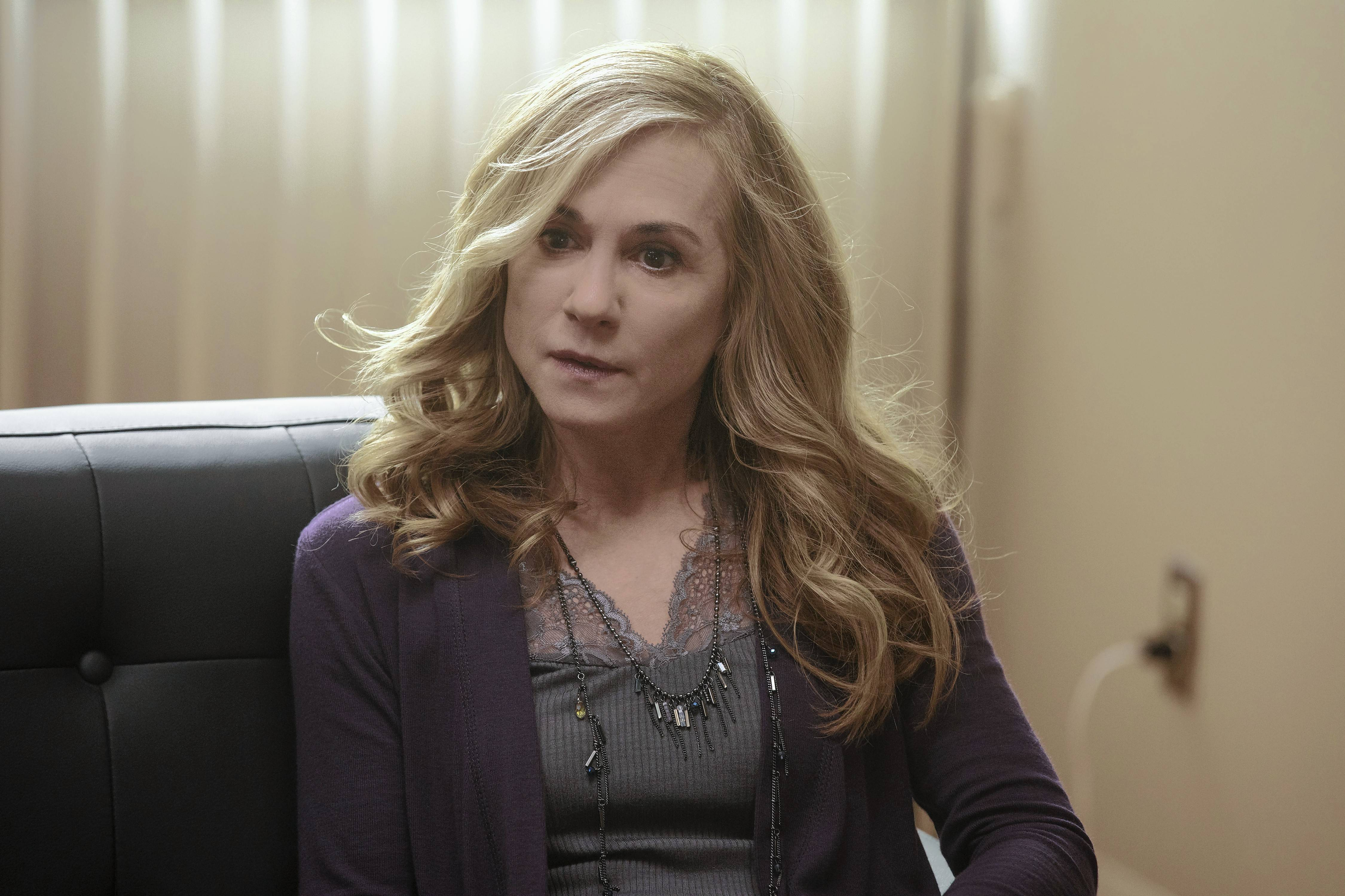 "Holly Hunter stars as an attorney and mother in ""Here and Now."""