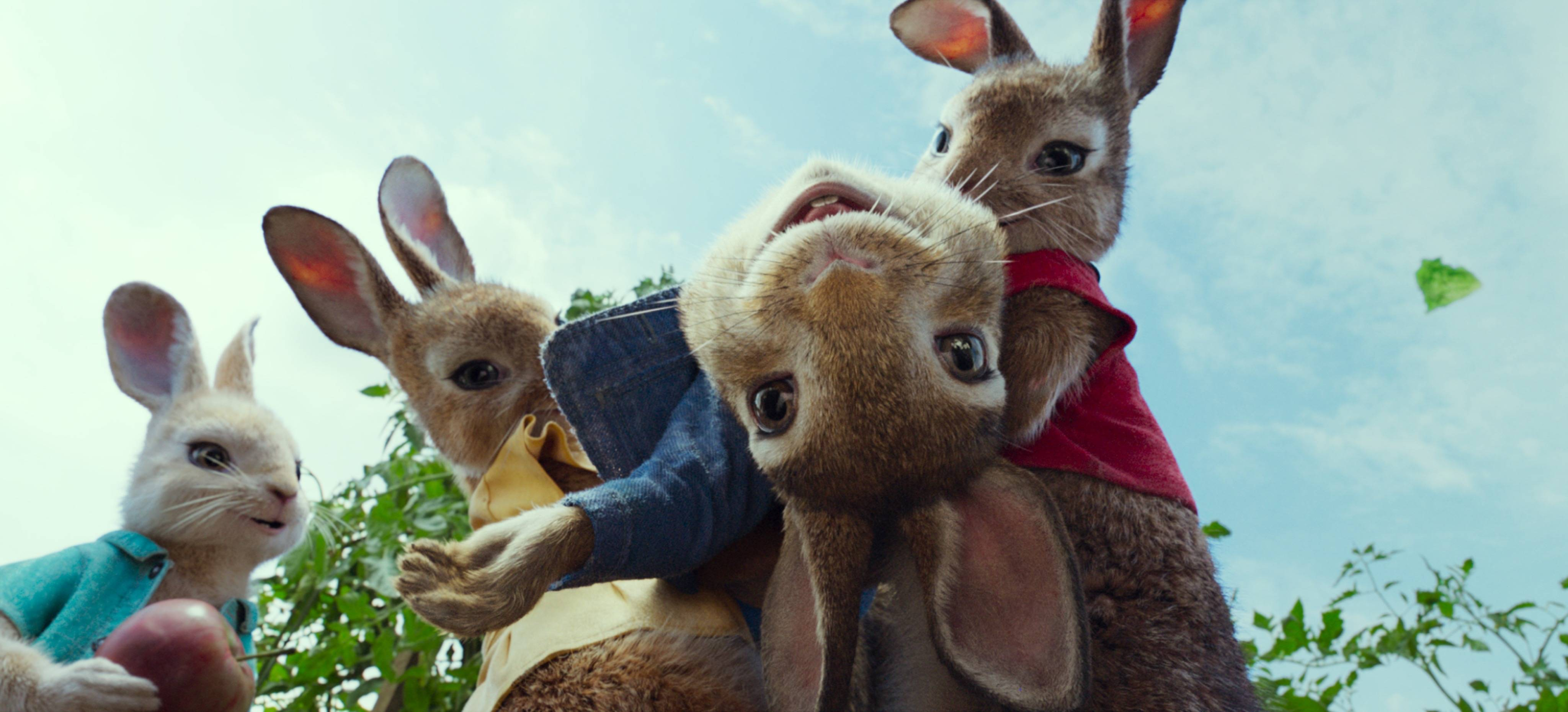 "Peter Rabbit (voiced by James Corden) and his sisters enjoy garden life until Mr. McGregor's great nephew inherits the farm and plans to sell in ""Peter Rabbit."""