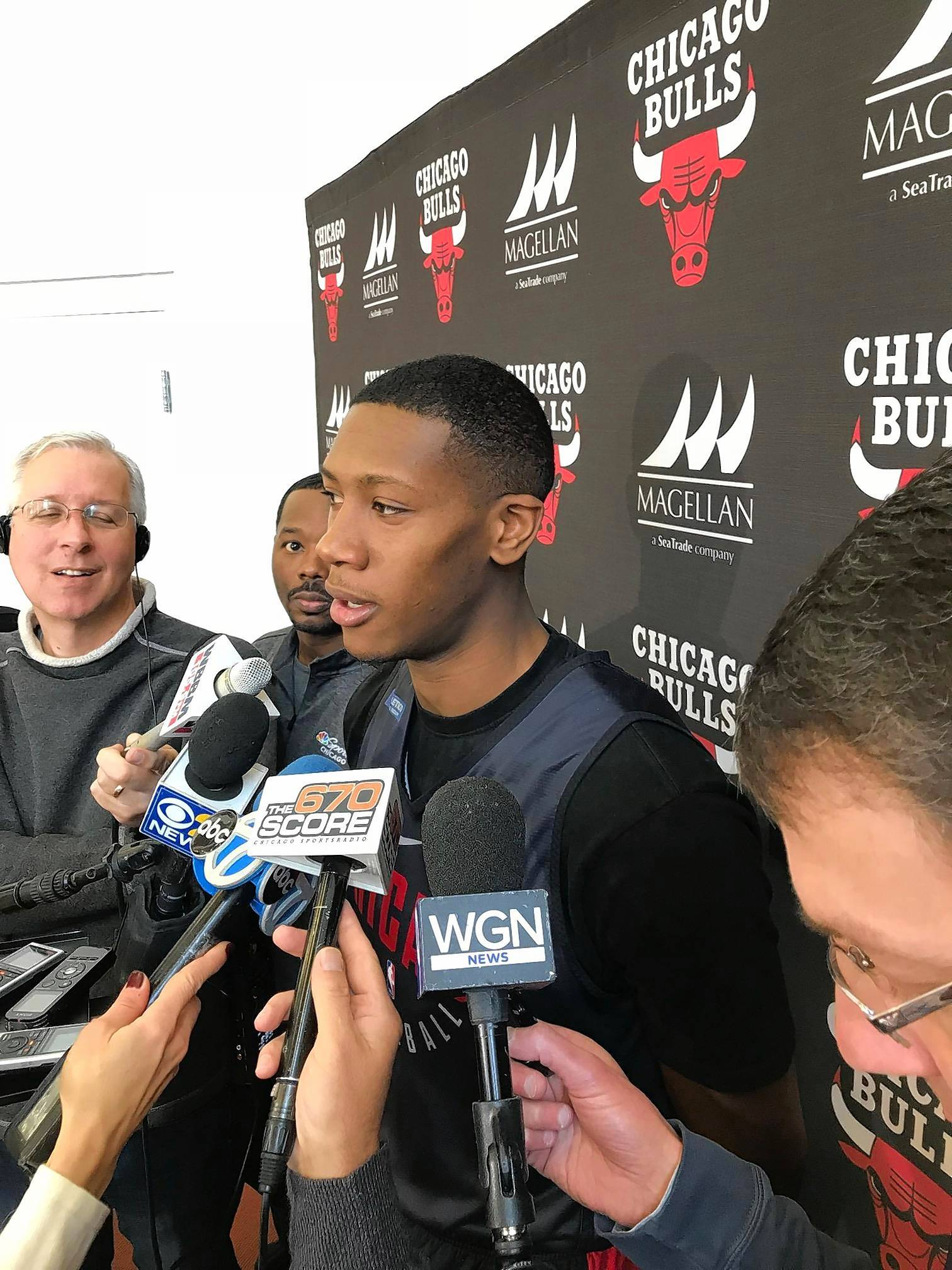 Chicago Bulls guard Kris Dunn tells reporters he hopes to return to game action soon. Dunn, who has been out with a concussion, practiced with the Windy City Bulls on Wednesday,