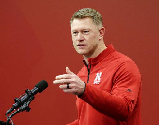 Nebraska coach Scott Frost speaks to journalists during an NCAA college football signing day news conference in Lincoln, Neb., Wednesday, Feb. 7, 2018.