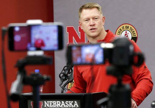 Nebraska coach Scott Frost answers a question during an NCAA college football signing day news conference in Lincoln, Neb., Wednesday, Feb. 7, 2018.