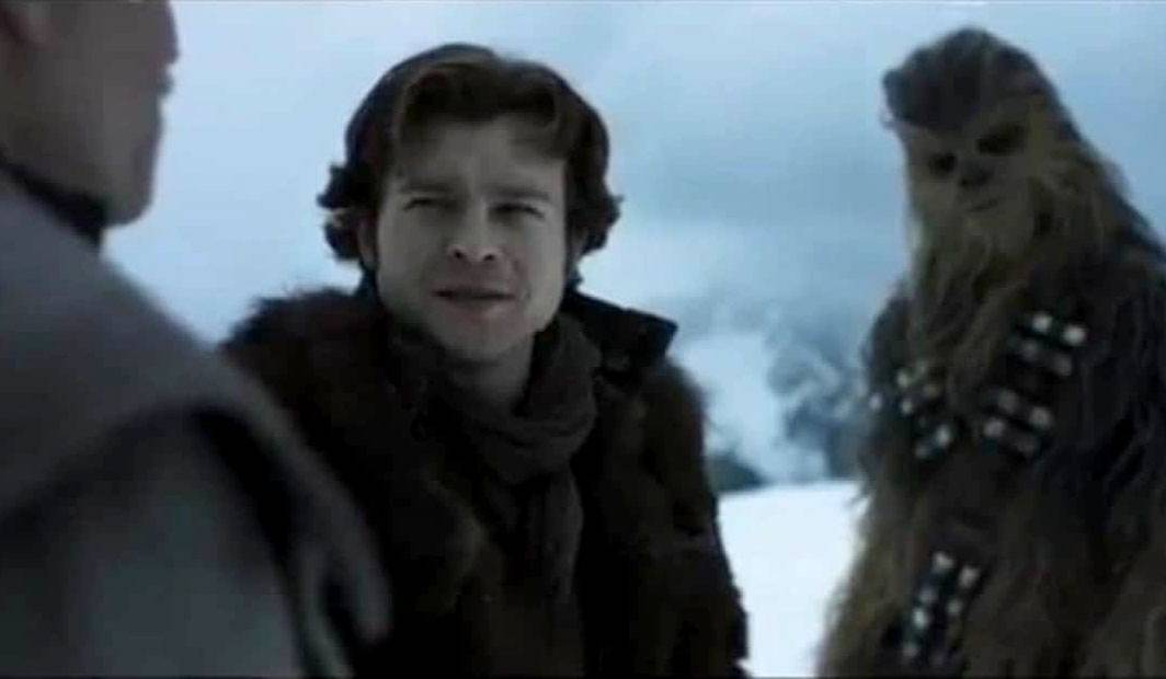"Tobias Beckett (Woody Harrelson) seeks to pair up Han (Alden Ehrenreich) and Chewbacca (Joonas Suotamo) in ""Solo: A Star Wars Story,"" due out in May."