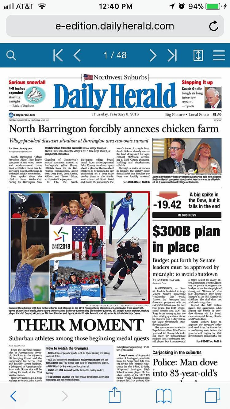 The Daily Herald e-edition is available at http://e-edition.dailyherald.com.