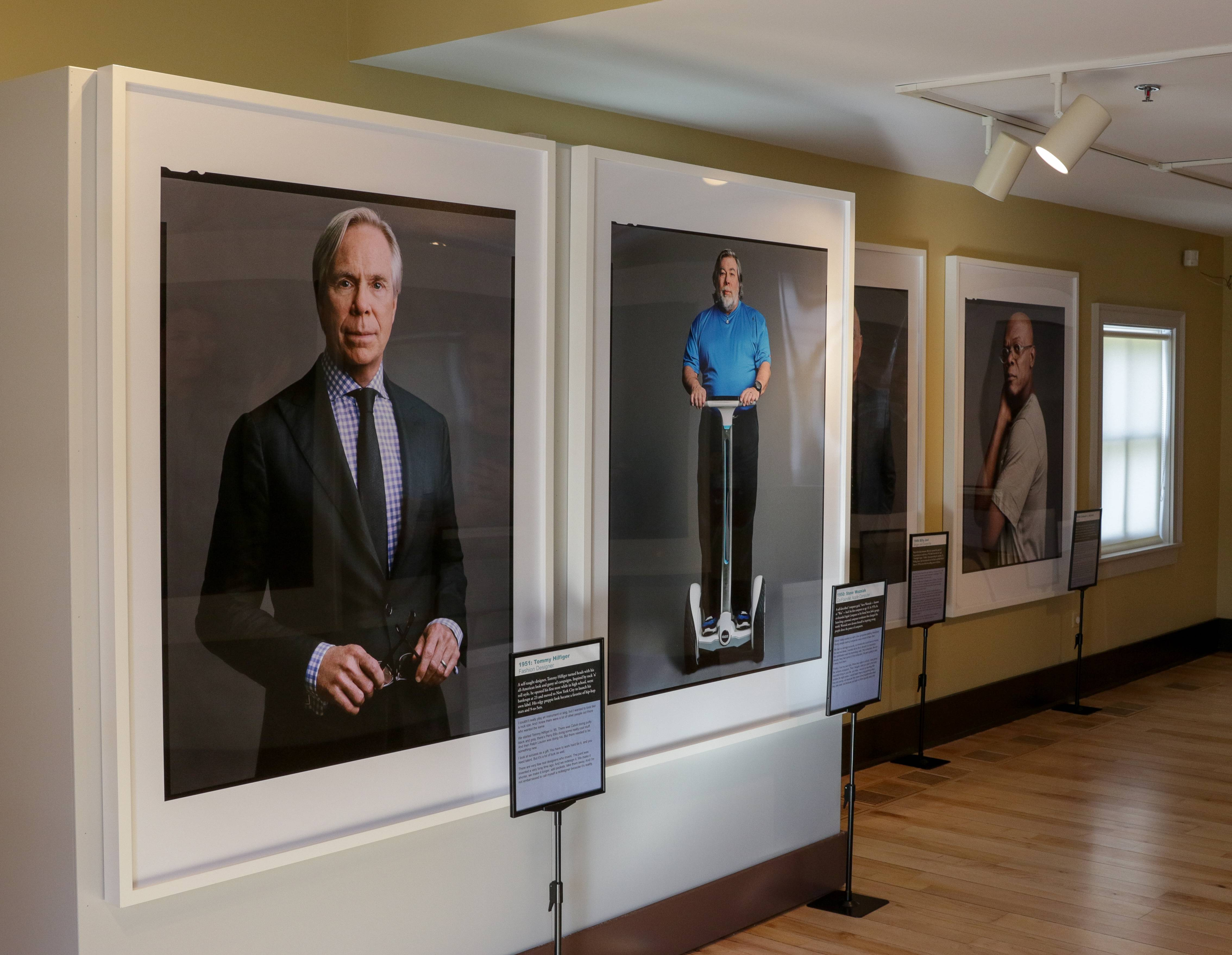 """The Boomer List,"" a traveling exhibition by the Newseum and AARP, features photographs of generational icons taken by Timothy Greenfield-Sanders."