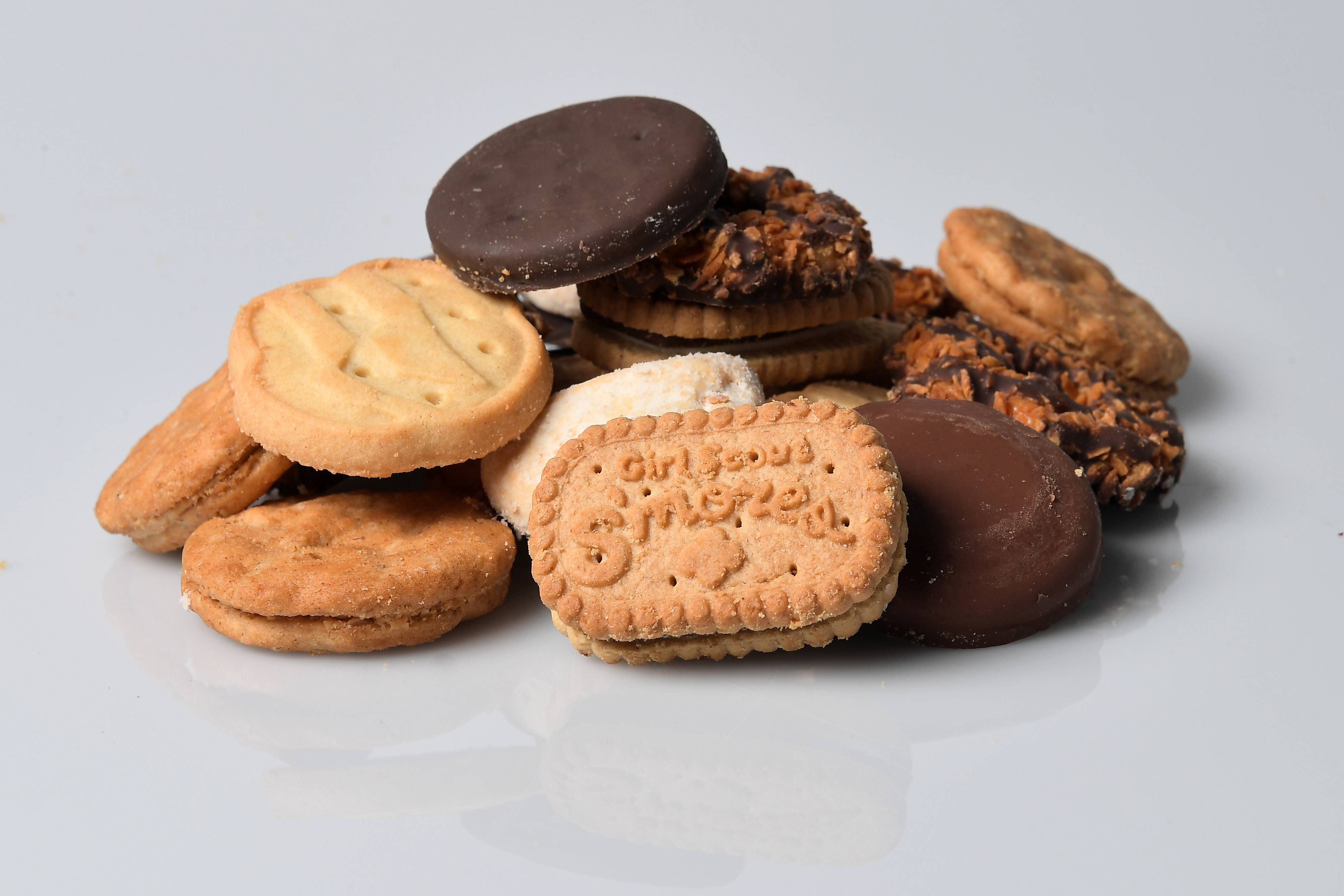 Girl Scout S'mores, Samoas, Do-si-dos, Tagalongs, Trefoils, Savannah Smiles and top seller Thin Mints. MUST CREDIT: