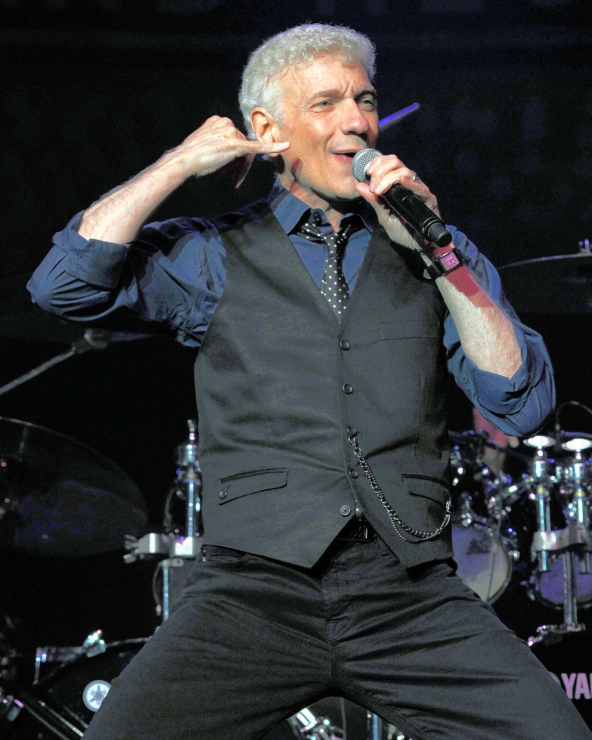 Dennis DeYoung, a founding member of the rock band Styx, performs at the Genesee Theatre in Waukegan on Saturday, Feb. 10.