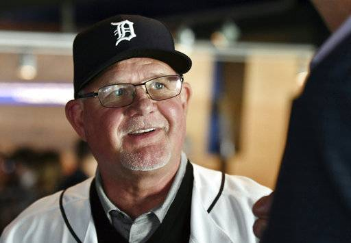 FILE - In this Oct. 20, 2017, file photo, Detroit Tigers baseball team's new manager Ron Gardenhire wears a Tigers hat after an introductory press conference at Comerica Park in Detroit. Detroit hired Gardenhire to replace Brad Ausmus, but aside from that, the Tigers didn't have a particularly compelling offseason. (Robin Buckson/Detroit News via AP, File)