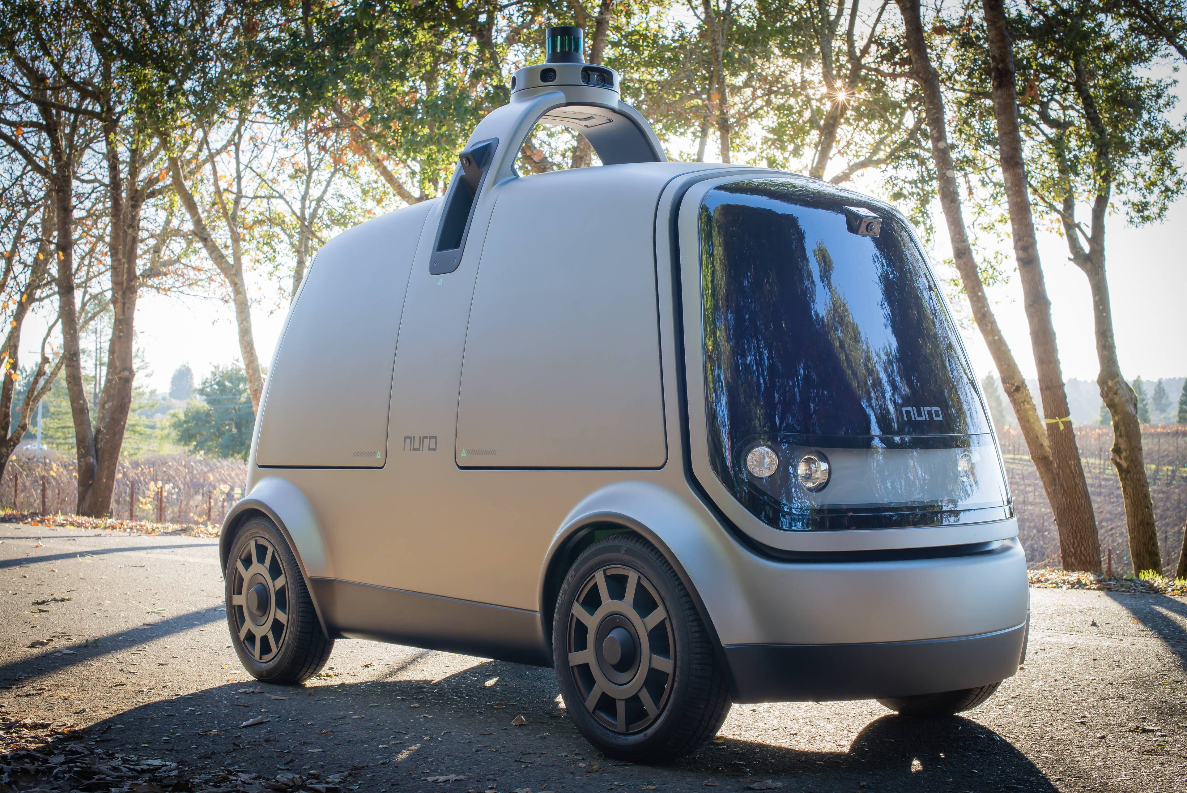 The new autonomous vehicle unveiled last week by Nuro, a Silicon Valley startup.