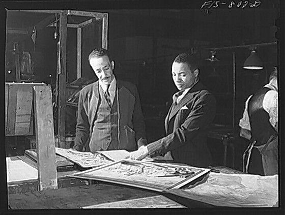 In 1940, John H. H. Sengstacke, right, nephew and heir to Chicago Defender founder Robert Sengstacke Abbott, assumed editorial control of the newspaper and continued to champion for equality.
