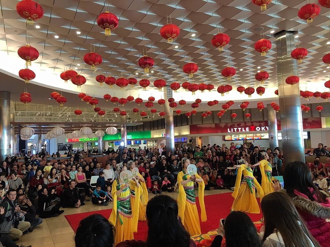 Traditional Chinese dancers perform last year at the Fashion Outlets of Chicago in honor of Chinese Lunar New Year.