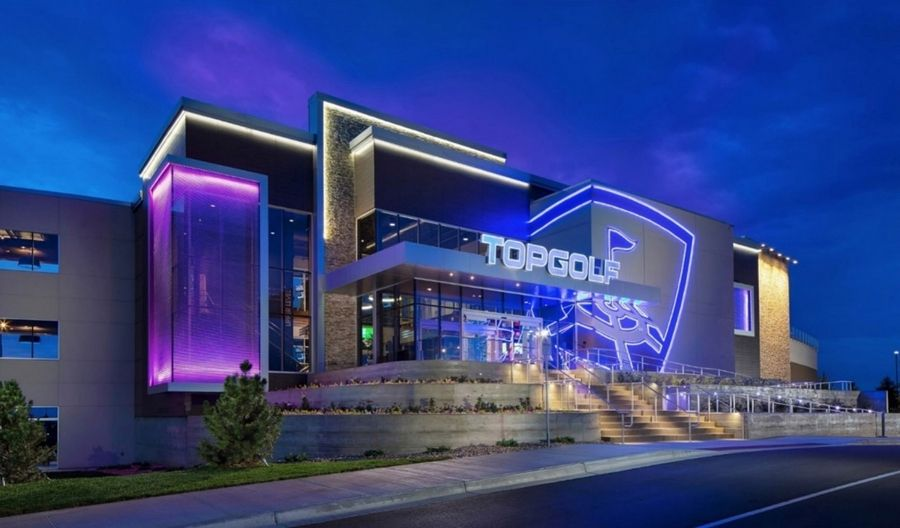 Rendering of the proposed Topgolf business in Lincolnshire.